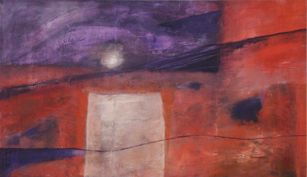 Akryl på lerret størrelse 120x70  Solnedgang    solgt